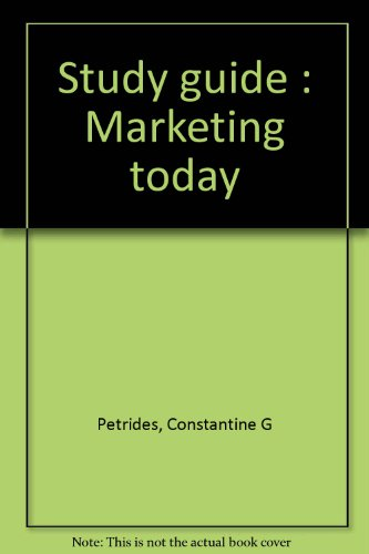 9780030022876: Study guide : Marketing today