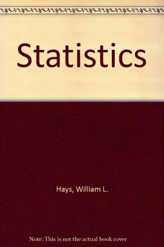 9780030024641: Statistics
