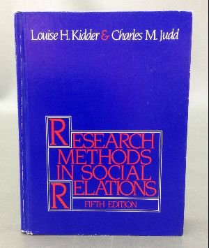9780030024733: Research Methods in Social Relations