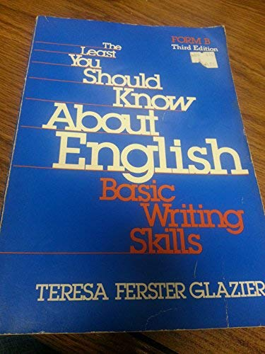 9780030026072: Least You Should Know About English: Form A