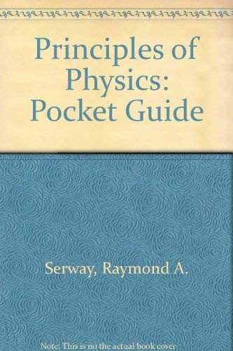 9780030033049: Principles of Physics: Pocket Guide