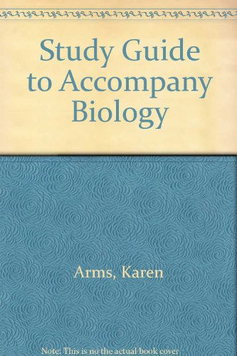 9780030036484: Study Guide to Accompany Biology