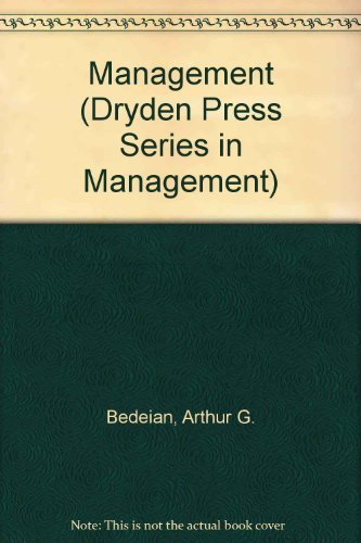 9780030037573: Management (Dryden Press Series in Management)