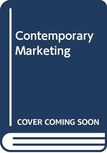 9780030039096: Contemporary Marketing