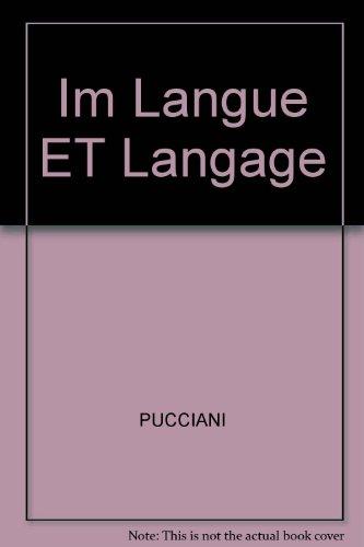 9780030040399: Im Langue ET Langage