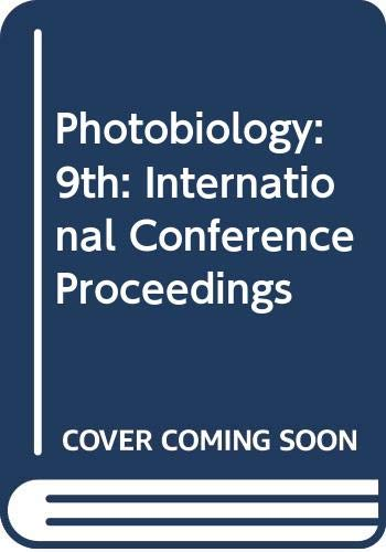 9780030040573: Photobiology: 9th: International Conference Proceedings