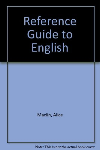 9780030041938: Reference Guide to English: A Handbook of English As a Second Language