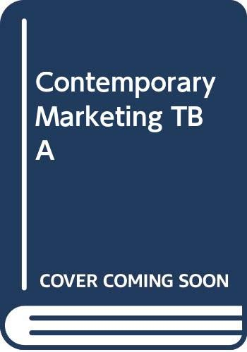 9780030042133: Contemporary Marketing TB A