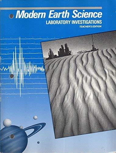 9780030044540: Modern Earth Science - Laboratory Investigations (Teacher's Edition)