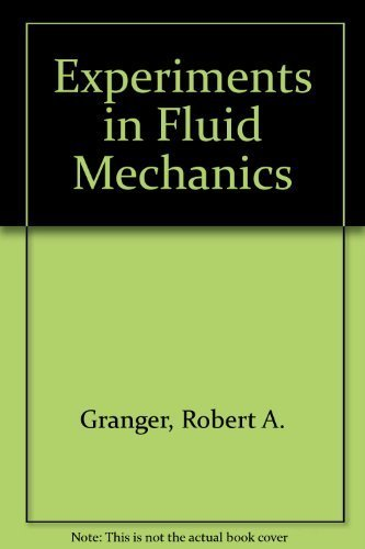 9780030046384: Experiments in Fluid Mechanics