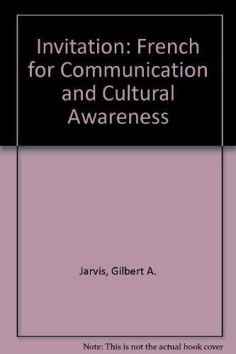 Invitation: Contextes, Culture Et Communication: Gilbert A. Jarvis