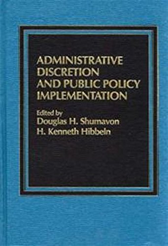 9780030050442: Administrative discretion and public policy implementation