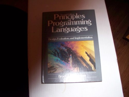 9780030051630: Principles of Programming Languages: Design, Evaluation, and Implementation