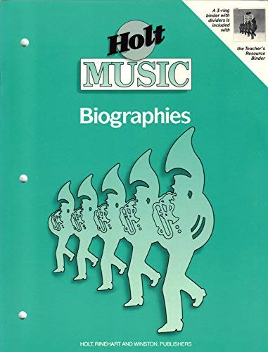9780030053139: Holt Music Biographies: Teacher's Resource, Grade 6