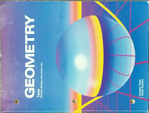 9780030054143: Geometry Tests (Blackline Masters with Answer Key)
