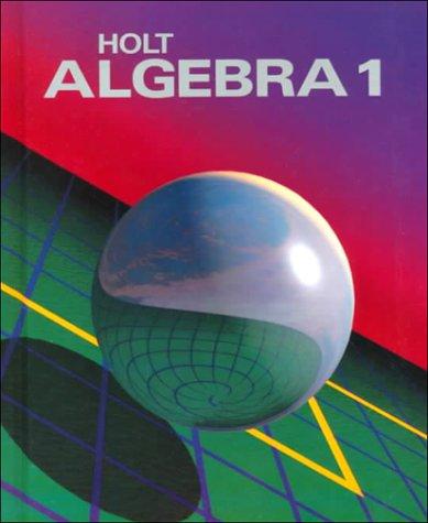 9780030054198: Holt Algebra 1