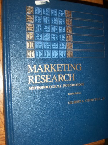 9780030055324: Marketing Research: Methodological Foundations