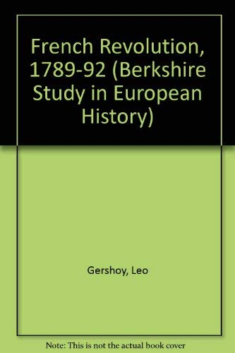 9780030055751: French Revolution, 1789-92 (Berkshire Study in European History)