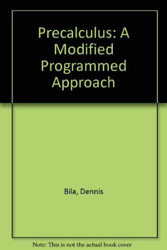 9780030056161: Precalculus: A Modified Programmed Approach