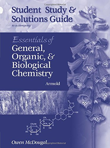 9780030056529: Study Guide for Armold?s Essentials of General, Organic, and Biological Chemistry