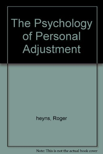 9780030057502: The Psychology of Personal Adjustment