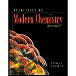 9780030059049: Principles of Modern Chemistry (Saunders Golden Sunburst Series)