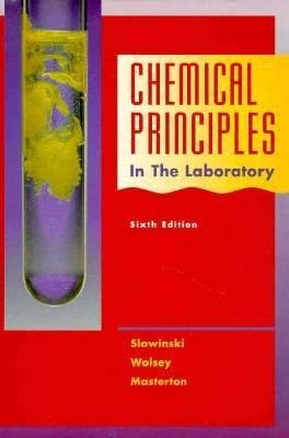 9780030059391: Chemical Principles in the Laboratory (Saunders Golden Sunburst Series)