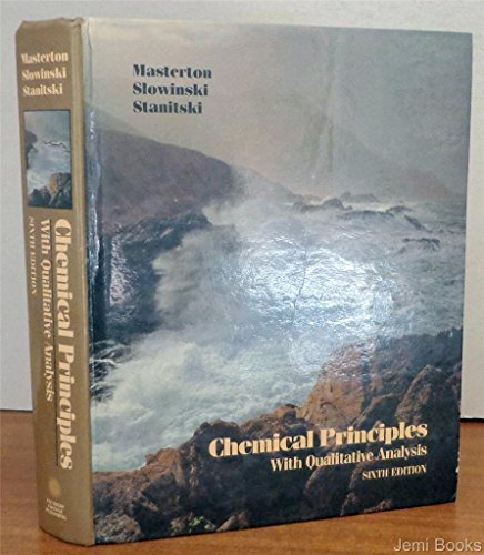 9780030061387: Chemical Principles With Qualitative Analysis (Saunders Golden Sunburst Series)
