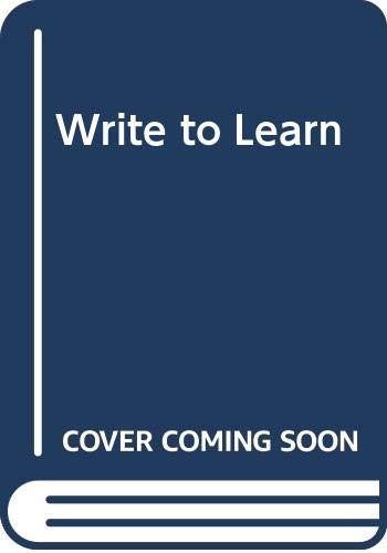 9780030062186: Write to Learn