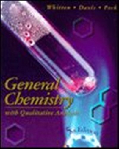 9780030062223: General Chemistry With Qualitative Analysis (Saunders golden sunburst series)