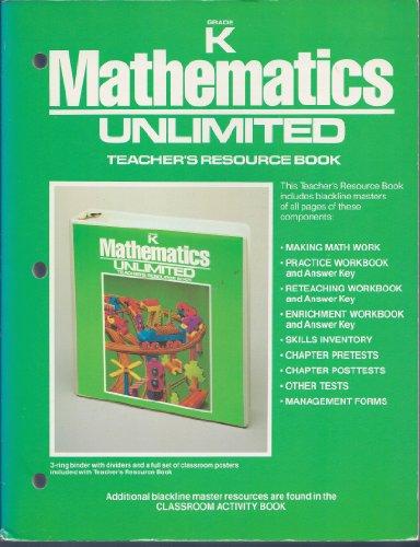 9780030064142: mathematics Unlimited Grade K Teacher's Resource Book (Mathematics Unlimited, Grade K Teacher's Resource Book)