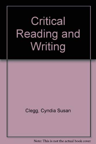 9780030065545: Critical Reading and Writing Across the Disciplines