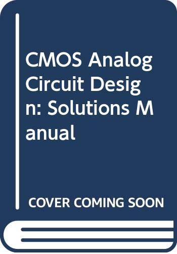 9780030065880: Cmos Analog Circuit Design