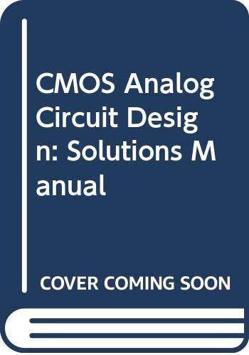 9780030065880: Cmos Analog Circuit Design