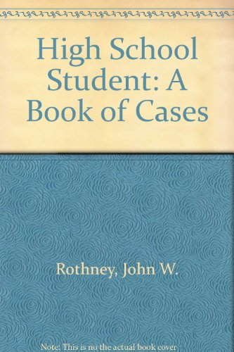 9780030066900: High School Student: A Book of Cases