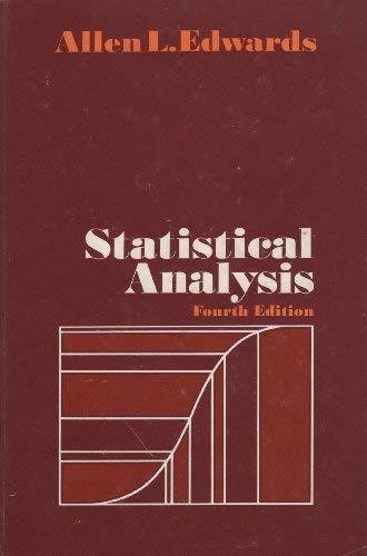 9780030069017: Statistical Analysis