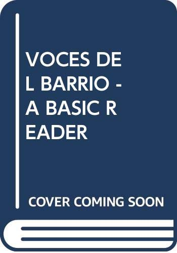 9780030069666: VOCES DEL BARRIO - A BASIC READER