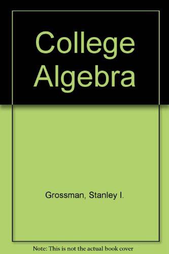 9780030070891: College Algebra