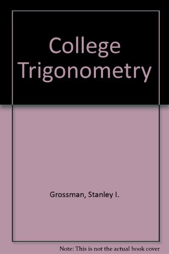 9780030071034: College trigonometry