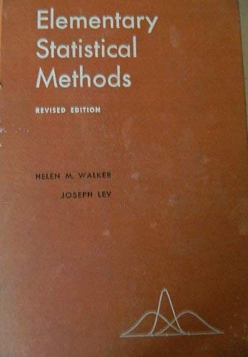 9780030072956: Elementary Statistical Methods