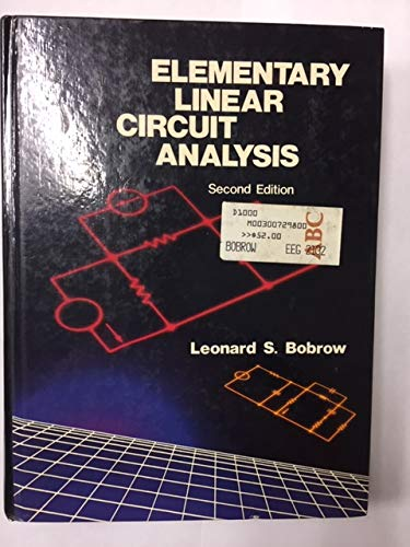 9780030072987: Elementary Linear Circuit Analysis (H R W Series in Electrical and Computer Engineering)