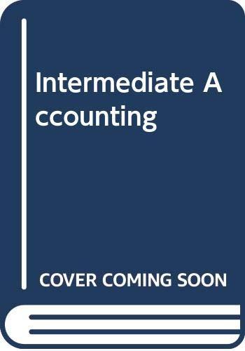 9780030073830: Intermediate Accounting