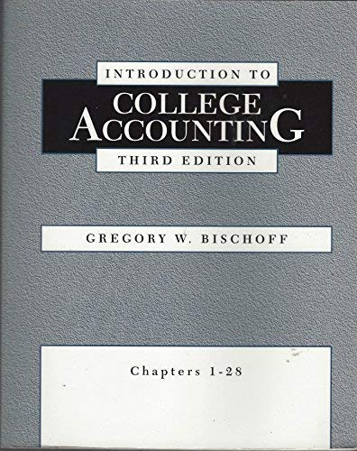 9780030074233: Introduction to College Accounting: Chapters 1-28