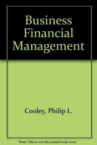 9780030074325: Business Financial Management