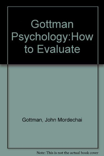 How to Do Psychotherapy and How to: Gottman, John Mordechai