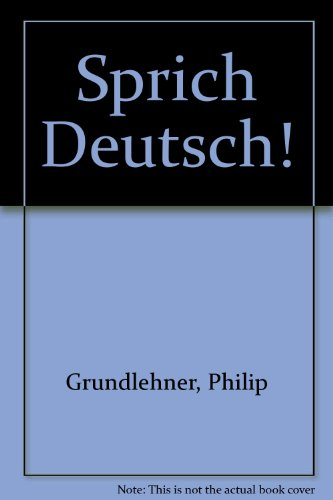 9780030080395: Sprich Deutsch: A Conversation Manual