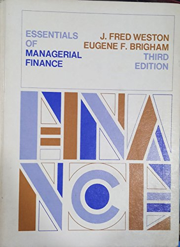 9780030081460: Essentials of Managerial Finance