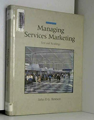 9780030081477: Bateson Managing Services Marketing (The Dryden Press series in marketing)