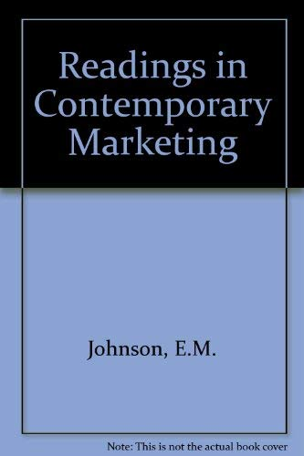 Readings in Contemporary Marketing: Johnson, Eugene M.