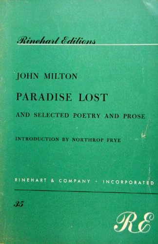 9780030084805: Paradise Lost and Selected Poetry and Prose